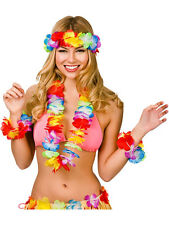 Set Hawaïen Hula Fleur cou Garland Lei Luau Aloha Beach Party robe de fantaisie