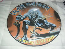 IRON MAIDEN -A REAL LIVE ONE- AWESOME RARE HARD TO FIND LTD EDITION PICTURE LP
