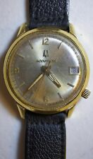 Bulova Accutron Gold Filled Watch w/ Date 2191.10 N7 Tuning Fork