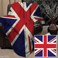 UNION JACK DESIGN SOFT FLEECE BLANKET COVER THROW SOFA BED BLANKET L&S PRINTS