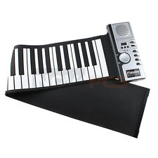 61 Keys Flexible Portable Foldable Electric Digital Roll up Keyboard Piano Music