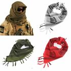 Arab Shemagh Keffiyeh Army Military Tactical Scarf Shawl Kafiya Neck Head Wrap