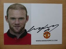 2013-14 Wayne Rooney Signed Man Utd Club Card (5871)