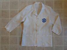Vtg DACRON Registered Pharmacist UNIFORM 34 Lab Coat LS Medical 70s/80s DR Smock