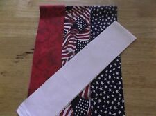 20  RED  WHITE  AND BLUE FABRIC STRIPS JELLY ROLL  2.5 X 44