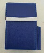 Marshal Leather Royal Blue Cigarette Up To 100's Flip Case Lighter Pocket