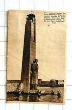 1939 Memorial Statue To King Albert Of The Belgians Entrance Canal Nearly Liege