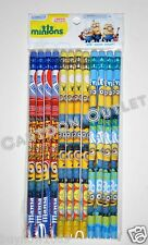 12 pc MINIONS PENCILS w/erasers FOR PARTY CANDY BAGS GIFTS FAVORS DESPICABLE ME