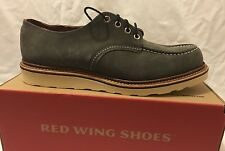 RED WING SHOES 8102 Oxford Charcoal Grey Leather Suede Shoes Uk 11 Eu 46 BNIB
