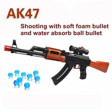 Nerf Gun Strike AK47 CS N Darts Blaster Toy Kids Rifle Soft Crystal Water Bullet