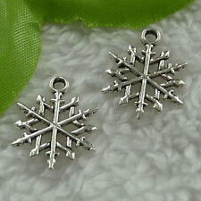 free ship 280 pieces tibet silver snowflake charms 20x16mm #2691