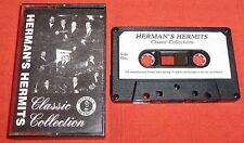 HERMAN'S HERMITS CASSETTE TAPE - CLASSIC COLLECTION/GREATEST HITS - PAPER LABELS