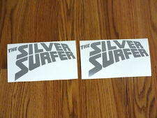 2 SILVER SURFER Vinyl Decal Sticker Wall Computer Pc Laptop Truck car Window