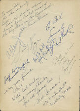 NIGEL BRUCE - BOOK PAGE SIGNED WITH CO-SIGNERS