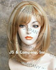 Human Hair Blend Wig Straight Blonde mix Face Frame Heat Safe wma 27-613