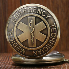 EMT Emergency Medical Technician Paramedic Quartz Pocket Watch Pendant Necklace