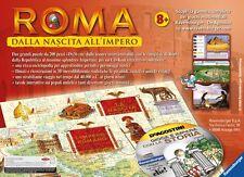 RAVENSBURGER ROMA DALLA NASCITA ALL'IMPERO 2 PUZZLE + CD INTERATIVO 8+ ART 24335