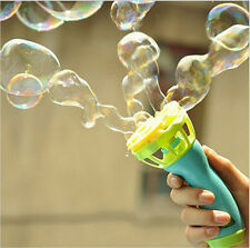 Kids Childhood Outdoor Game Water Fun Play Toy Hand Held Bubble Blower Gun CV