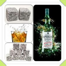 UK Whisky Ice Stones Drinks Cooler Cubes Whiskey Scotch Rocks Granite & Pouch