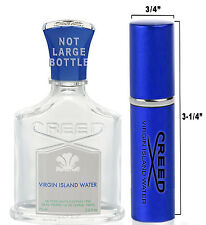 .20oz Travel Spray LARGE Sample of AUTHENTIC Creed Virgin Island Water Perfume
