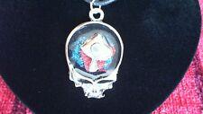 Grateful Dead Magic Mushroom Skull Pewter Pendant Necklace! New Deadhead Phish