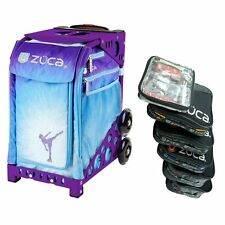 Zuca ICE DREAMZ Sport Insert Bag with Purple Frame & Packing Pouch Set