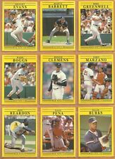 1991 Fleer Boston Red Sox Team Set 31 Roger Clemens Wade Boggs Dwight Evans