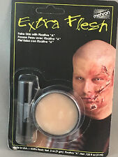 "Extra Flesh fake skin with fixative ""a"" Mehron create scars wounds lacerations"