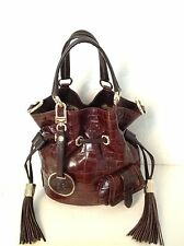 Sac Lancel premier flirt marron brown bag purse tote