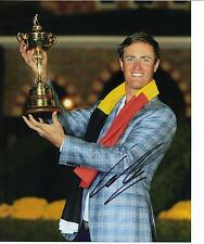 Nicolas Colsaerts genuine main signé 10x8 photo ryder cup 2012 (3035)