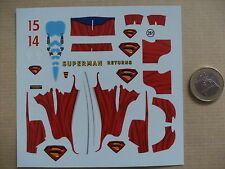 promo decals decalcomanie decalque f1 red bul racing rb2 superman 2006 1/32