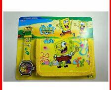 NEW Children's Kids SPONGE-BOB SQUAREPANTS PATRICK Wallet Watch Gift Set
