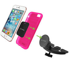 Magnet Hold Car Phone Holder CD Insert Bracket for Apple iPhone 7 6 Cradle Kit