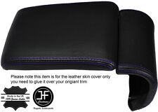 PURPLE STITCHING LEATHER ARMREST COVER FITS ALFA ROMEO GIULIETTA 2010-2016
