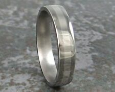 Platinum Inlay & Titanium Wedding Band Fine Jewelry Ring Custom Made Size 3-22