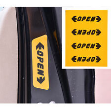 4x Car Auto Accessories Door Opening Safety Warning Sticker Stickers Reflective