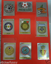 PANINI MEXICO 86  WM 1986 world cup BADGES wappen pick choose 2  from the list