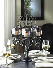 "large 17"" tall BLACK prism chandelier CANDELABRA Candle holder table centerpiece"