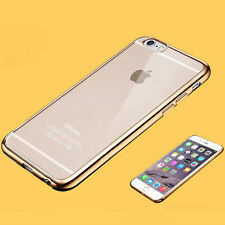 Ultra Thin Clear Plating Rubber Silicone Soft TPU Hard Plastic Phone Case Cover