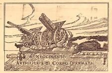 X497) MODENA 6 REGGIMENTO ARTIGLIERIA DI CORPO D'ARMATA FORMATO GRANDE VIAGGIATA