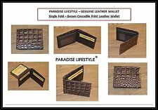 Womens Mens Wallet Croco Print Credit Card Holder Purses Black Pouches Brown Bag