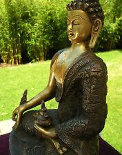 Sehr fein verarbeitete ALTE Medizin Buddha Statue aus Nepal Bronze 4,5 Kilo