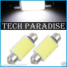 2x Ampoule 41mm 42mm C5W C7W C10W LED COB 12 Chip Blanc White  Navette Festoon