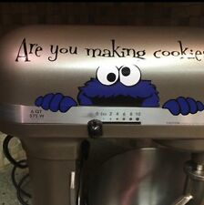 Sesame Street Cookie Monster Kitchenaid Mixer Vinyl Decal Sticker