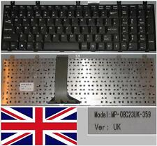 Qwertz-tastatur UK MSI MS1683 MS-1683 CR600, LG E500 MP-08C23UK-359 Schwarz