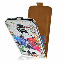 New Vertical Flip Leather Magnetic Phone Case Cover Pouch for iPhone Samsung