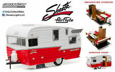 GREENLIGHT 1:24 W/B TRAILER SHASTA 15' AIRFLYTE DIECAST HITCH TOW 18225 RED