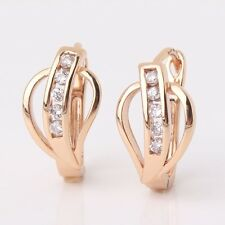 18k gold filled Cool jewlery white sapphire engagement Huggie earring