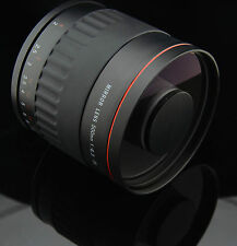 500mm f/6.3 Telephoto Mirror Lens+T2 Adapter for Sony A550 A450 A390 A380 A290