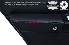 RED STICH 2X REAR DOOR ARMREST LEATHER COVER FOR SUBARU IMPREZA WRX STI 01-04